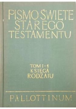 Pismo  Święte starego testamentu  tom 1 księga rodzaju