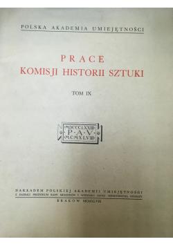 Prace Komisji Historii Sztuki tom IX 1948