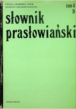Słownik prasłowiański tom 4