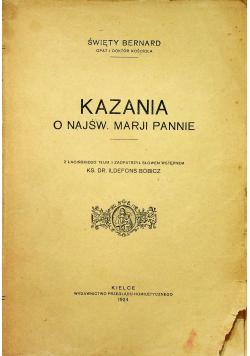 Kazania o najświętszej Maryji Pannie 1924 r.