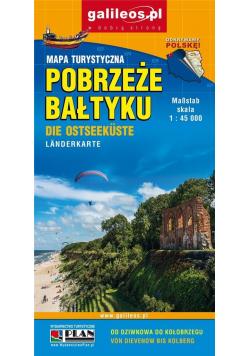 Mapa turystyczna - Pobrzeże Bałtyku 1:45 000