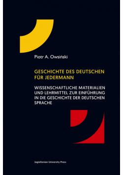 Geschichte des deutschen für jedermann