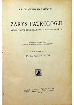 Zarys patrologji 1929 r