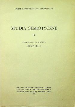 Studia semiotyczne IV