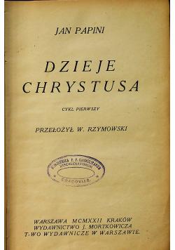 Dzieje Chrystusa 1922 r