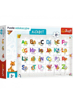 Puzzle Edukacyjne 34 Alfabet TREFL