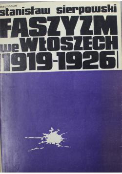 Faszyzm we Włoszech 1919 1920