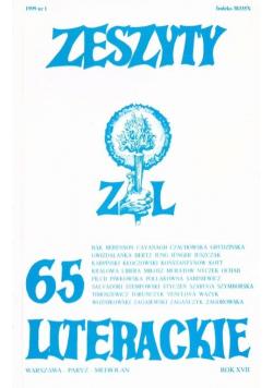 Zeszyty literackie 65 1/1999
