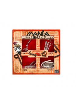 Łamigłówki metalowe 4 szt Puzzle mania czerwony G3