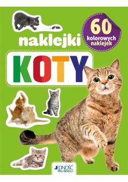 Koty. 60 kolorowych naklejek