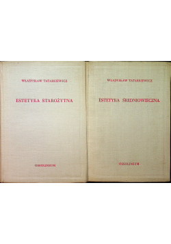 Historia estetyki Tom I i II