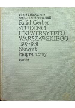 Studenci Uniwersytetu Warszawskiego 1808  1831