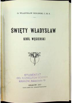 Święty Władysław król węgierski 1917 r.