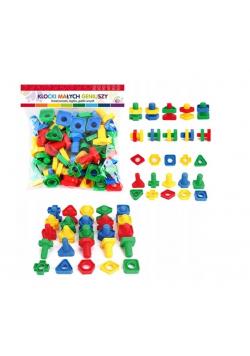 Klocki Małych Geniuszy - Figury ze śrubkami 50el.