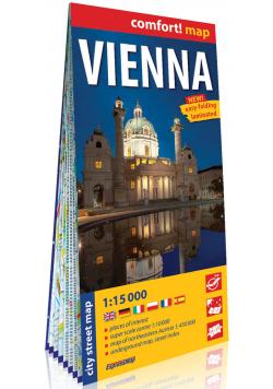Wiedeń laminowany plan miasta 1:15 000