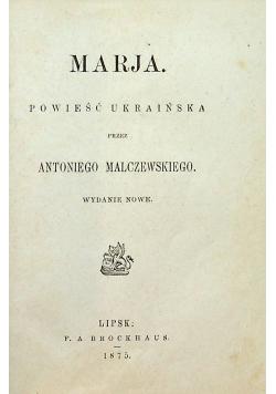 Marja powieść Ukraińska 1875 r.
