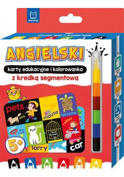 Uczę się i koloruję 5+ Angielski. Karty edukacyjne