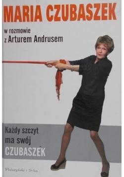 Maria Czubaszek w rozmowie z Arturem Andrusem