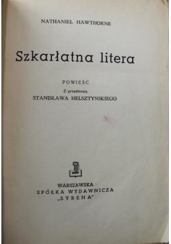 Szkarłatna litera 1947 r.