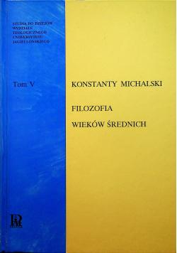 Filozofia wieków średnich Tom V
