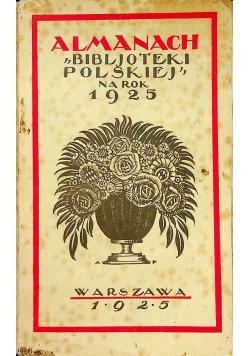 Almanach Bibljoteki Polskiej na rok 1925 1925 r.