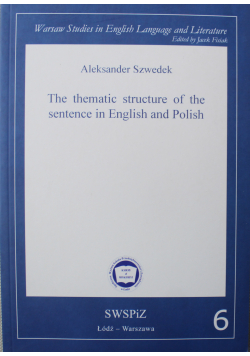The tematic structure of the sentence in English and Polish