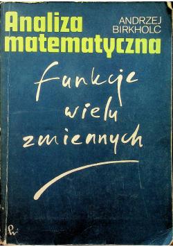 Analiza matematyczna Funkcje wielu zmiennych