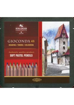 Zestaw pasteli suchych w kredce Gioconda 48 sztuk w kasetce metalowej
