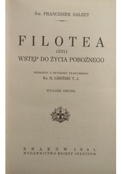 Filotea czyli wstęp do życia pobożnego, 1931 r.