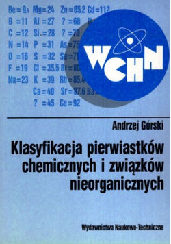 Klasyfikacja pierwiastków chemicznych i związków nieorganicznych
