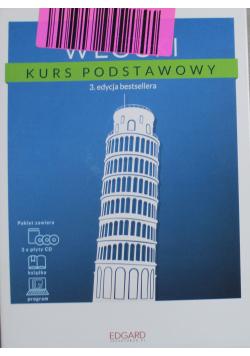 Włoski Kurs podstawowy plus 3 płyty CD