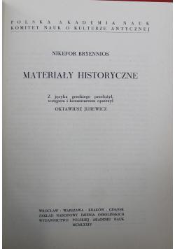 Materiały historyczne