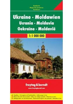 Mapa samochodowa - Ukraina, Mołdawia 1:1 000 000