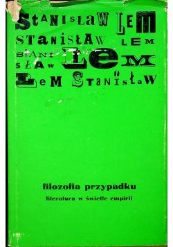 Filozofia przypadku Tom II