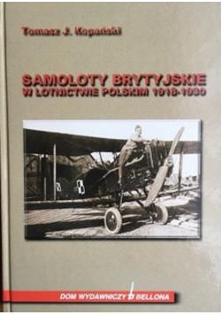 Samoloty brytyjskie w lotnictwie polskim 1918 1930