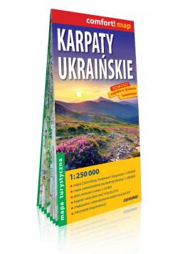 Karpaty Ukraińskie; laminowana mapa turystyczna; 1:250 000