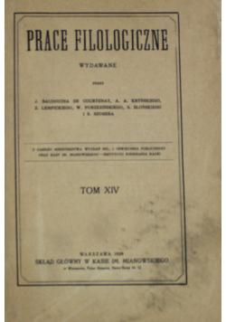 Prace Filologiczne Tom XIV 1929 r.
