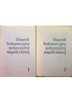 Słownik frekwencyjny polszczyzny współczesnej 2 tomy