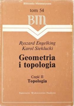 Geometria i topologia Część II Topologia