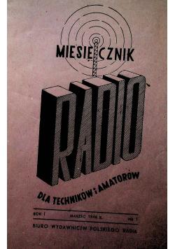 Miesięcznik RADIO dla techników i amatorów rok I marzec 1946 r nr od 1 do 10