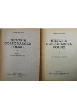 Historia gospodarcza Polski 2 tomy 1947 r.
