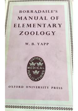 Manual of elementary zoology