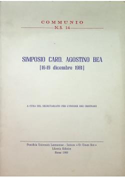 Simposio Card Agostino Bea 16 19 dicembre 1981
