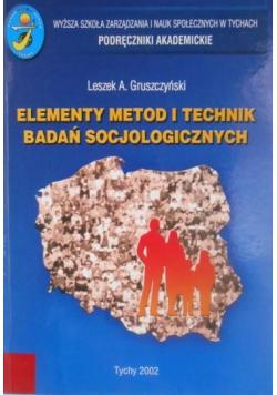 Elementy metod i technik badań socjologicznych