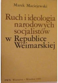 Ruch i ideologia narodowych socjalistów w Republice Weimarskiej