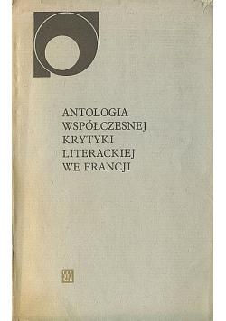 Antologia współczesnej krytyki literackiej we Francji