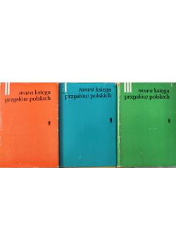 Nowa księga przysłów polskich 3 Tomy