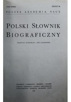 Polski słownik biograficzny Zeszyt 126