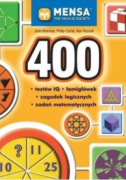 400 testów IQ łamigłówek zagadek logicznych zadań matematycznych
