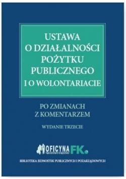 Ustawa o działalności pożytku publicznego..